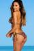 Catalina Versache Print & Olive Triangle Halter Single Rise Scrunch Bun® Bikini