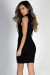 """It's a Vibe"" Black Sleeveless Mock Neck Lace Up Cut Out Dress"