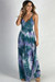 """""""Peace & Love"""" Purple & Navy Tie Dye Backless Maxi Dress"""