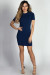 """Romy"" Navy Raglan Half Sleeve Bodycon Mini Dress"