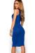"""""""Kiara"""" Royal Blue Sleeveless Casual Bodycon Midi Dress"""