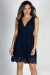 """First Kiss"" Navy Lace Classy Sleeveless V Neck Party Dress"