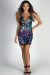 """Fireworks"" Purple Ombre Sequin Mini Dress"