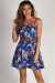 """I'm Good, I'm Gone"" Royal Blue Floral Dress w/ Belt"