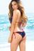 Vegas Navy & Red Triangle Top & Single Rise Scrunch Bottom Sexy Sequin Bikini