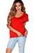 """Kelly"" Cherry Red Super Soft Oversized Ladies V Neck T Shirt"