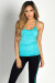 """Chakra"" Turquoise Blue Strappy Sport Performance Top"