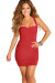 """Dominique"" Red Sweetheart Twist Front Bodycon Short Dress"