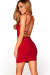 """Scarlett"" Red V Neck Strappy Backless Dress"