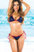 Vegas Navy & Red Triangle Top & Single Rise Scrunch Bottom Sexy Sequin Bikini