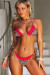 Leopard & Red Edge Lace Triangle Top & Leopard & Red Edge Lace Classic Bottom
