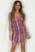 """Good To Me"" Neon Pink Snake Print Mini Dress"