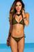 Olive & Black Two-Tone Triangle Top & Classic Scrunch Bikini