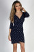 """Ready for Anything"" Navy Print Bodycon Wrap Dress"