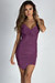 """Ask About Me"" Purple Spaghetti Strap Draped Asymmetrical Mini Dress"