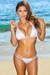 White Double Strap Bikini Top & White Double Strap Cheeky Micro Bikini Bottom