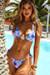 Laguna South Beach Palm Triangle Top & Venice South Beach Palm Mid Rise Cheeky Micro Bikini Bottoms