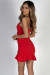 """Single Ladies"" Red Flare Bodycon Mini Dress"