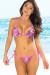 Ipanema Paradise Print & Neon Pink Triangle Bikini Top & Sexy Thong Bikini