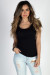 """""""The Natural"""" Black Fitted Scoop Neck Womens T Shirt"""