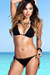 Solid Black Triangle Top & Classic Sexy Scrunch Bun® Bikini