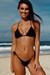 Solid Black Triangle Bikini Top & Sexy G-String Thong Bikini Swimsuit