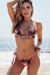 Laguna Black Rose Classic Bikini Top & Venice Black Rose Mid Rise Classic Bikini Bottom
