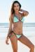 Nashville Mint & Black Two-Tone Triangle Top Classic Scrunch Bikini