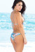 Honolulu Blue Hawaii Print Triangle Top & Single Rise Scrunch Bottom Sexy Print Bikini