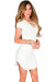 """Livia"" White Short Sleeve Tunic Sexy Lace Up T Shirt Dress"