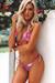 Laguna Pink Hibiscus Classic Bikini Top & Venice Pink Hibiscus Mid Rise Classic Bikini Bottoms