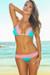 Maui Jade & Baby Pink Triangle Top Scrunch Bottom Sexy Lace Bikini Swimsuit