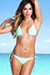 Surfside Solid Mint Triangle Top Single Rise Sexy Scrunch Bun® Bikini