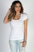 """""""The Natural"""" White Fitted Scoop Neck Womens T Shirt"""