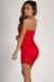 """Sauce All On Me"" Red Floral Lace Asymmetrical Tube Dress"