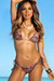 Surfside Sexy Versache Print Triangle Top Single Rise Scrunch Bun® Bikini