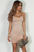 """""""All Or Nothing"""" Taupe Spaghetti Strap Mini Dress"""