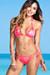 Surfside Sexy Neon Coral & Gold Duchess Print Triangle Top Single Rise Scrunch Bun® Bikini