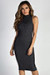 """Talk To Me Nice"" Charcoal Ribbed Sleeveless Dress"