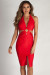 """Boo'd Up"" Red Open Back Buckle Cut Out Midi Dress"