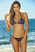 Vegas Purple & Black Triangle Top Single Rise Scrunch Bun® Sexy Sequin Bikini
