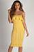 """""""Perfect Day"""" Mustard Ruffle Tube Dress"""
