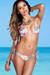 Surfside Sexy Rainbow Tropical Print Triangle Top Single Rise Scrunch Bun® Bikini