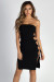 """Out The Bag"" Black Strapless Ring Side Dress"
