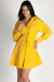"""Love Come Down"" Mustard Lace Up Smock Dress"