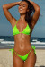Neon Green Triangle Top & Neon Green Micro Scrunch Bottom