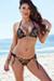 Surfside Sexy Black & Gold Duchess Print Triangle Top Single Rise Scrunch Bun® Bikini