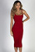 """Angel Heart"" Red Elegant Simple Bodycon Long Midi Dress"