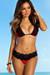 Red & Black Martinique Bikini Top & Maui Bikini Bottom