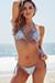 Laguna Steel Blue Velvet Classic Bikini Top & Venice Steel Blue Velvet Mid Rise Classic Bikini Bottoms